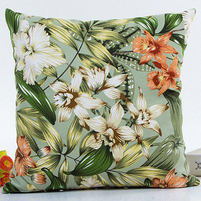 Hot Sell Florals Printed Decorative Household Pillow Case