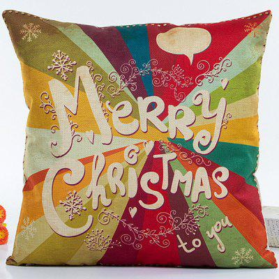 Colorful Merry Christmas Hot Sell Decorative Household Pillow Case
