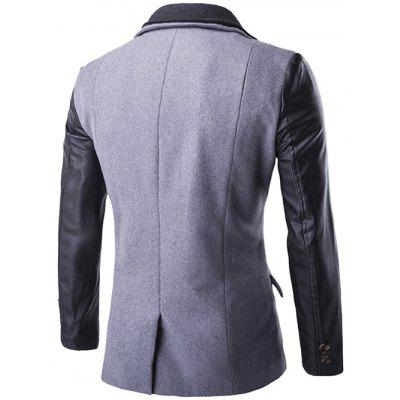 Zip-Up PU Spliced Faux Twinset CoatMens Jackets &amp; Coats<br>Zip-Up PU Spliced Faux Twinset Coat<br><br>Clothes Type: Jackets<br>Collar: Turn-down Collar<br>Material: Cotton Blends, Wool<br>Package Contents: 1 x Coat<br>Season: Winter<br>Shirt Length: Regular<br>Sleeve Length: Long Sleeves<br>Style: Fashion, Casual<br>Weight: 1.080kg