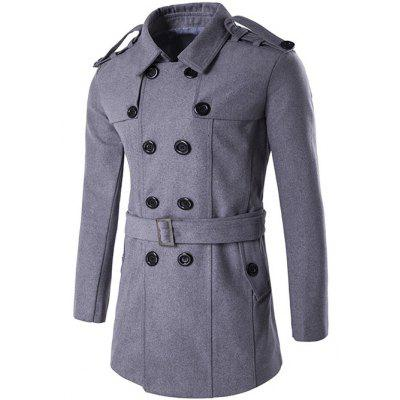 Double Breasted Epaulet Design Trench Coat
