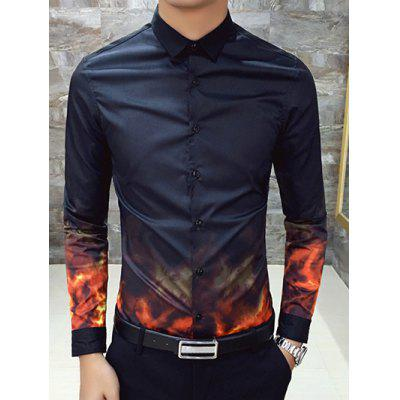 Impreso camiseta de manga larga Slim Fit