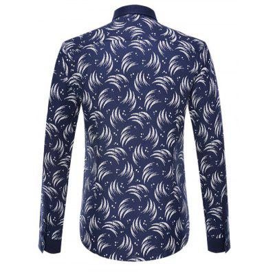 Circinate Print Long Sleeve Button-Down ShirtMens Shirts<br>Circinate Print Long Sleeve Button-Down Shirt<br><br>Collar: Turn-down Collar<br>Material: Cotton, Polyester<br>Package Contents: 1 x Shirt<br>Shirts Type: Casual Shirts<br>Sleeve Length: Full<br>Weight: 0.350kg