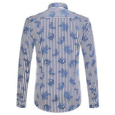 Vertical Stripe and Paisley Print Long Sleeve Button-Down ShirtMens Shirts<br>Vertical Stripe and Paisley Print Long Sleeve Button-Down Shirt<br><br>Collar: Turn-down Collar<br>Material: Cotton, Polyester<br>Package Contents: 1 x Shirt<br>Shirts Type: Casual Shirts<br>Sleeve Length: Full<br>Weight: 0.350kg