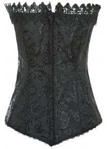 Lace-Up Jacquard Buckle Corset