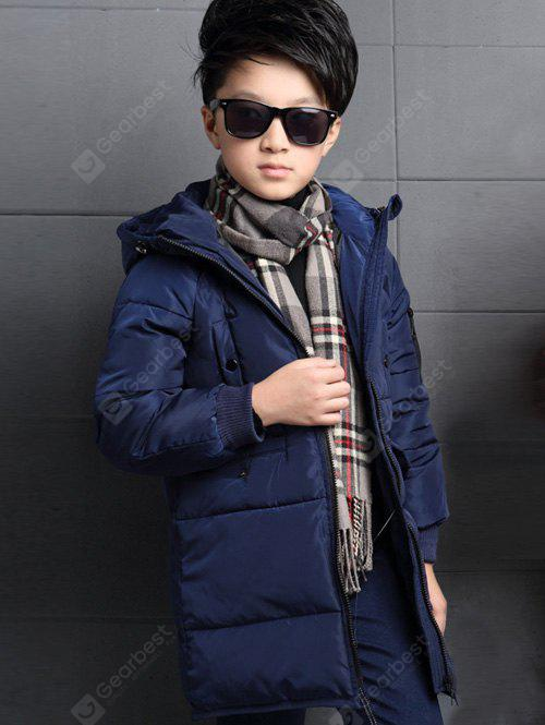 Zip Up Hooded Quilted Padded Coat