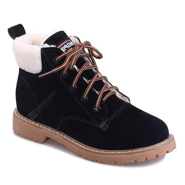 Suede Lace Up Faux Shearling Short Boots 21 30 Free