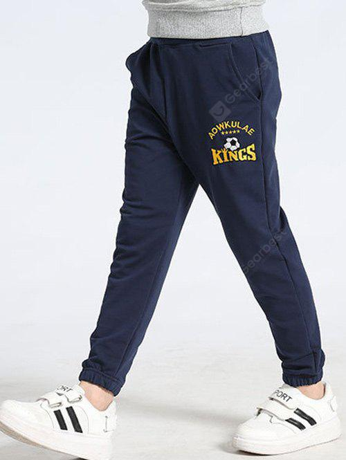 CADETBLUE Letter Printed Drawstring Pants