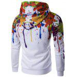 Buy Paint Splatter Zip-Up Hoodie XL WHITE
