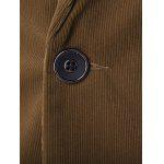 Single Breasted Notch Lapel Contrast Pocket Corduroy Blazer for sale