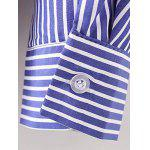 Breast Pocket Striped Shirt - BLUE AND WHITE