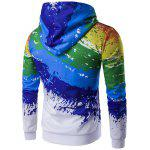 Buy Paint Splash Printed Zip-Up Hoodie XL COLORMIX