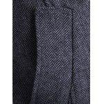 best Zippered Button Tab Cuff Herringbone Pea Coat
