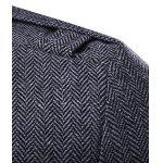 Zippered Button Tab Cuff Herringbone Pea Coat deal