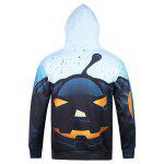 cheap 3D Devil Halloween Pumpkin Print Hoodie