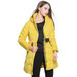 best Belted Hooded Zipper Design Coat