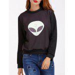 cheap Alien Pattern Sweatshirt