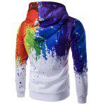 Buy Paint Splatter Printed Zip-Up Hoodie L WHITE