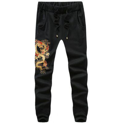 Totem Embroidered Single Back Pocket Drawstring Jogger Pants