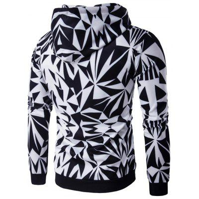 Hooded Irregular Rhombus Print Long Sleeve HoodieMens Hoodies &amp; Sweatshirts<br>Hooded Irregular Rhombus Print Long Sleeve Hoodie<br><br>Material: Cotton, Polyester<br>Package Contents: 1 x Hoodie<br>Shirt Length: Regular<br>Sleeve Length: Full<br>Style: Fashion<br>Weight: 0.4260kg