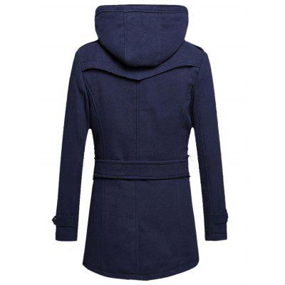 Hooded Belted Tweed Fleece Woolen CoatMens Jackets &amp; Coats<br>Hooded Belted Tweed Fleece Woolen Coat<br><br>Clothes Type: Wool &amp; Blends<br>Collar: Turn-down Collar<br>Material: Faux Leather, Polyester<br>Package Contents: 1 x Coat  1 x Belt<br>Season: Fall, Winter<br>Shirt Length: Long<br>Sleeve Length: Long Sleeves<br>Style: Streetwear, Fashion<br>Weight: 1.050kg