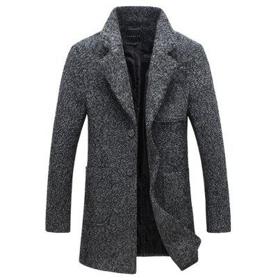Front Pocket Single-Breasted Lapel Coat