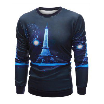 Crew Neck 3D Iron Tower Print Long Sleeve SweatshirtMens Hoodies &amp; Sweatshirts<br>Crew Neck 3D Iron Tower Print Long Sleeve Sweatshirt<br><br>Material: Cotton, Polyester<br>Package Contents: 1 x Sweatshirt<br>Shirt Length: Regular<br>Sleeve Length: Full<br>Style: Fashion<br>Weight: 0.400kg