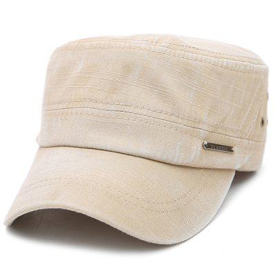 Classic Letter Ring Canvas Military Hat