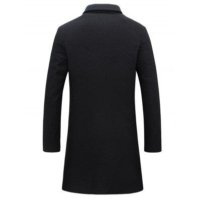 Single-Breasted Lapel Slim Woolen CoatMens Jackets &amp; Coats<br>Single-Breasted Lapel Slim Woolen Coat<br><br>Clothes Type: Wool &amp; Blends<br>Collar: Turn-down Collar<br>Material: Polyester<br>Package Contents: 1 x Coat<br>Season: Winter, Fall<br>Shirt Length: Long<br>Sleeve Length: Long Sleeves<br>Style: Casual, Office, Streetwear, Fashion<br>Weight: 0.968kg