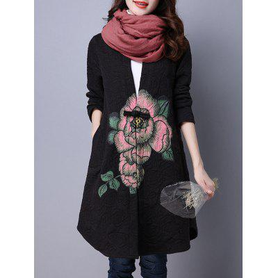 Collarless Cotton Coat With Flower PrintJackets &amp; Coats<br>Collarless Cotton Coat With Flower Print<br><br>Clothes Type: Others<br>Collar: Collarless<br>Embellishment: Button<br>Material: Cotton, Linen<br>Package Contents: 1 x Coat<br>Pattern Type: Floral<br>Season: Fall, Winter<br>Shirt Length: Long<br>Sleeve Length: Full<br>Style: Vintage<br>Type: Slim<br>Weight: 0.370kg