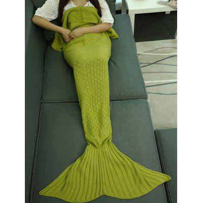 Купить со скидкой Super Soft Plaid Knitted Sleeping Bag Mermaid Tail Blanket