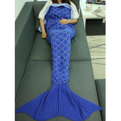 Fish Scale Design Sleeping Bag Wrap Mermaid Blanket