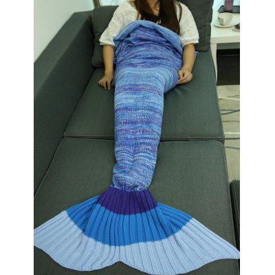 Wholesale Warmer Knitted Ombre Mermaid Tail Blanket