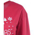 Merry Christmas Pullover Skew Neck Sweatshirt - RED