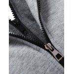 best Pocket Design Zippered Drawstring Hoodie