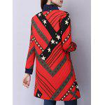Button Up Printed Quilted Coat for sale
