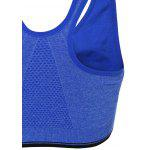 Acolchoado Zipper Sports Bra - AZUL