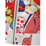 Funny Cartoon Print Bomber Jacket - WHITE