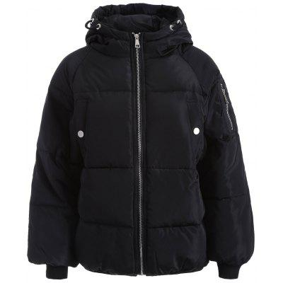 Zip Up Hooded Puffer Jacket