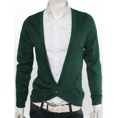Buy GREEN Slimming One Button V-Neck Cardigan for $15.18 in GearBest store