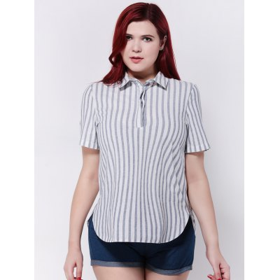 Buttoned Furcal Striped Shirt
