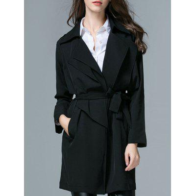 Volant Belted Thin Trenchcoat