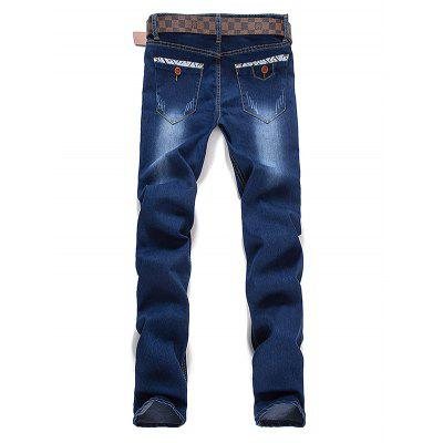 Letter Selvedge Zipper Fly JeansMens Jeans<br>Letter Selvedge Zipper Fly Jeans<br><br>Closure Type: Zipper Fly<br>Fabric Type: Denim<br>Fit Type: Regular<br>Material: Jeans<br>Package Contents: 1 x Jeans<br>Pant Length: Long Pants<br>Pant Style: Straight<br>Waist Type: Mid<br>Wash: Stonewashed<br>Weight: 0.650kg<br>With Belt: No