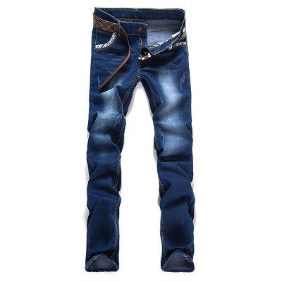 Letter Selvedge Zipper Fly Jeans
