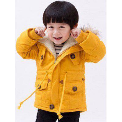 Kids Hooded American Flag Anorak Coat
