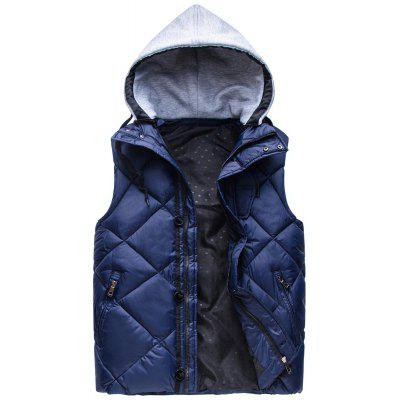 Zipper Padded Hooded Vest