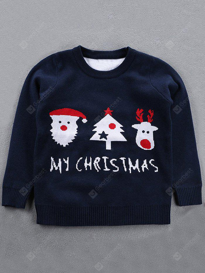 Crew Neck Kids Jacquard Pullover Christmas Sweater