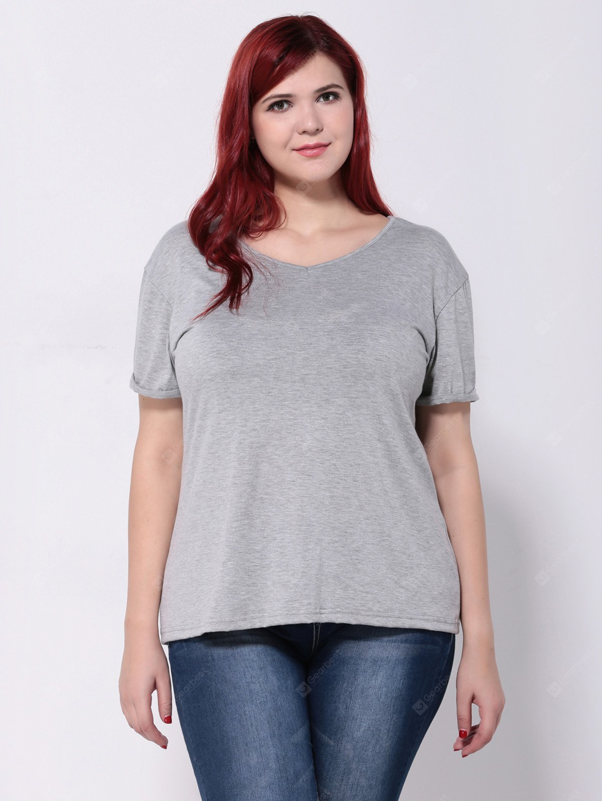 Hemming Sleeves Tropfen Schulter-T-Shirt
