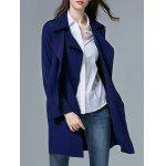 Belted Trench Wrap Coat - PURPLISH BLUE