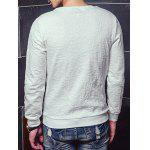 cheap Crew Neck All-Over Embroidery Sweatshirt