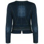 cheap Ziazag Slimming Denim Jacket